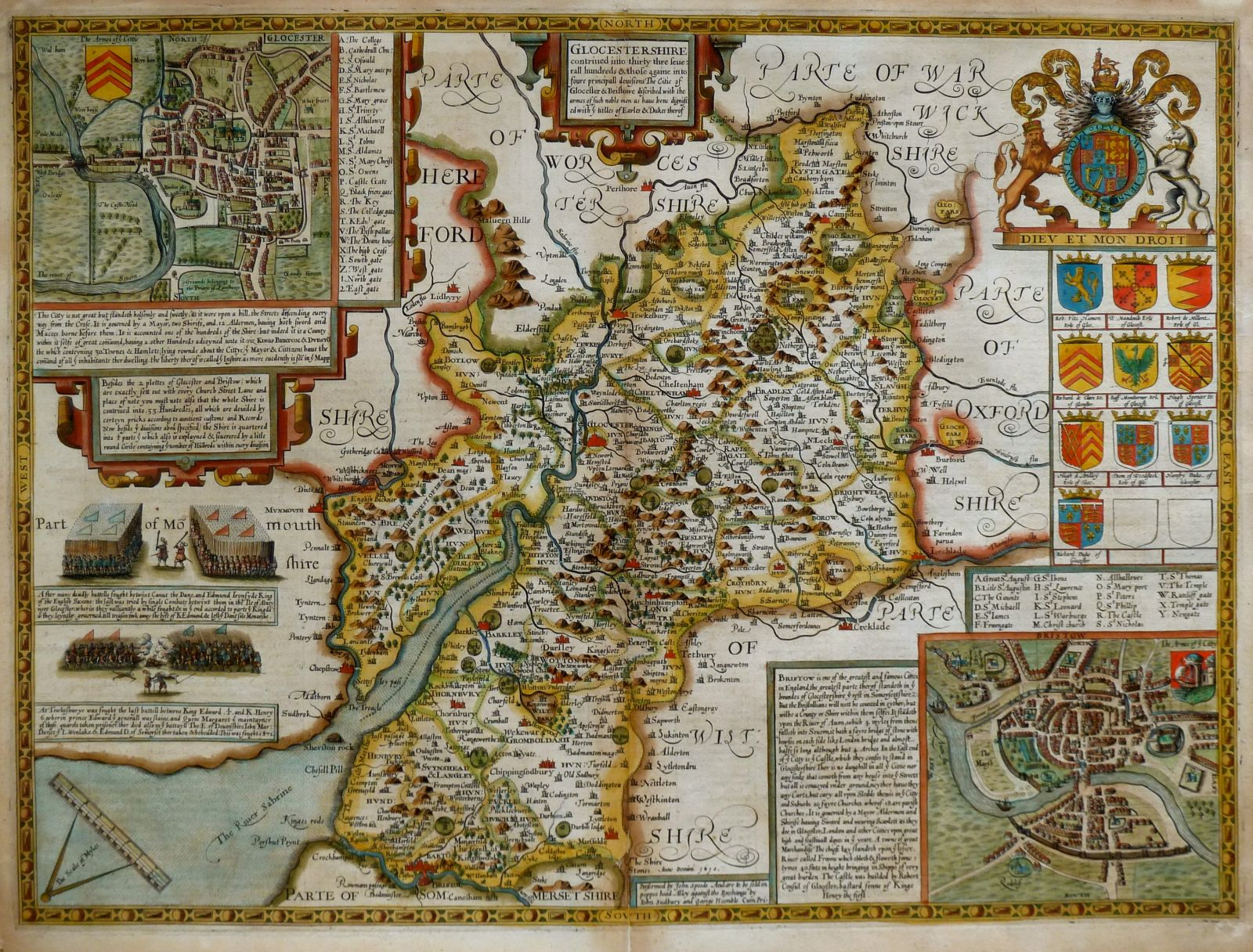 Gloucestershire Antique Maps  Old Maps Of Gloucestershire